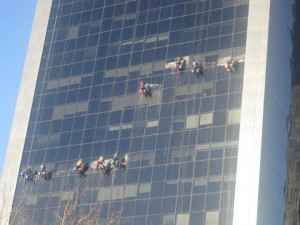 Window washers in Buenos Aires Argentina 2