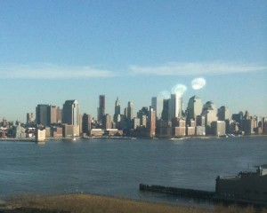 View of Manhattan from my W Hoboken hotel room