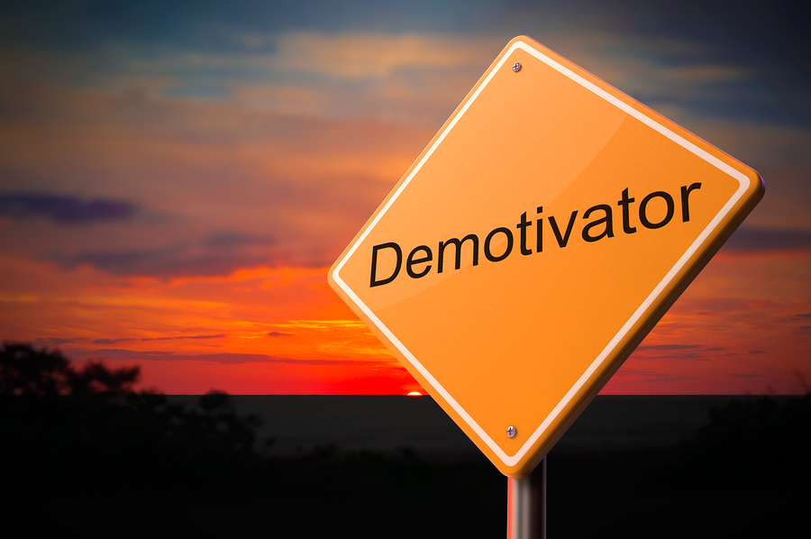 Demotivator on Warning Road Sign