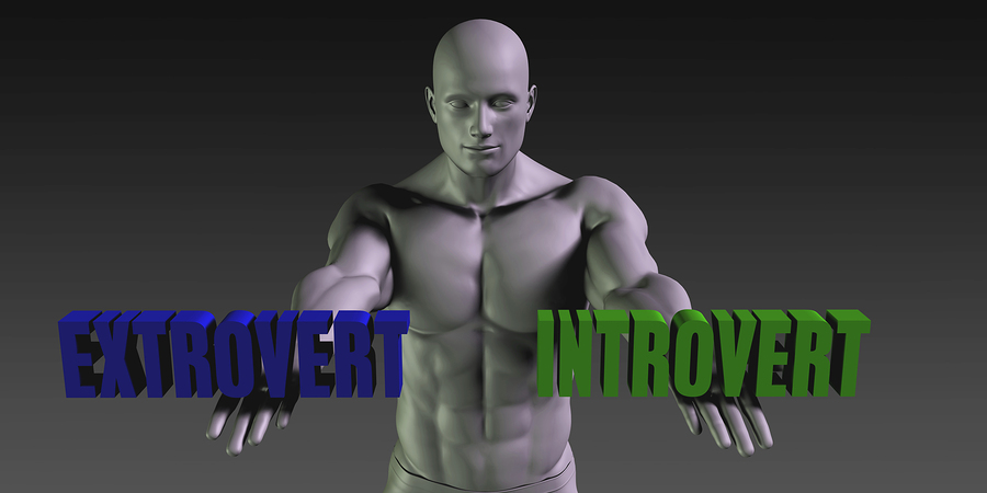 Extrovert vs Introvert Concept of Choosing Between the Two Choic