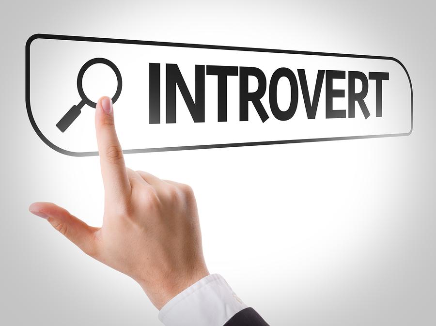 Introvert written in search bar on virtual screen