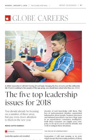 The Globe & Mail, January 1, 2018